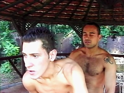 Cute jovial Latinos Outdoor Anal Sex