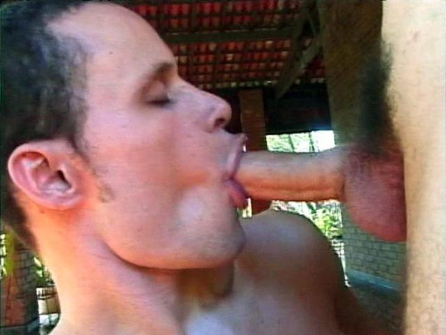 Gay Latino Danilo Mouthing a Cock