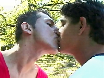Fabio and Armando outdoors Hook Up